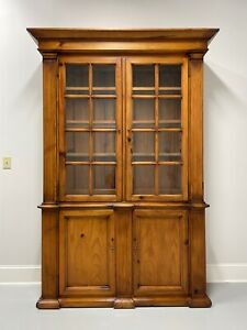 HENREDON POLO RALPH LAUREN Distressed Pine Chippendale Style China Cabinet