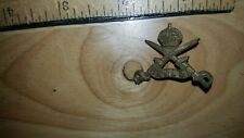 Antique Canada Military Emblem Crown & Two Swords Hat Cap Badge Medal Ww1 Or Ww2