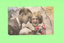 MM POSTCARD LOVERS SEXY MEN AND WOMAN BEAUTY JOYEUX NOEL BONNE ANNEE VINTAGE