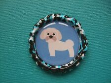 Handmade Shih Tzu Magnet Bottle Cap Dog Puppy Cute Fridge Blue Black White