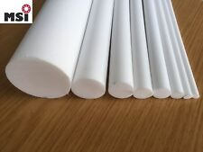 Teflon PTFE Hohlstab Rohr weiß Ø 50//30 mm vers Längen 96€//m