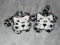 TESCO CHESTER WHITE CAT SOFT TOY COMFORTER DOUDOU BLACK SNOW LEOPARD