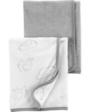 """Carter's Baby Unisex 2 Pack Terry Towels Baby Shower Gray Elephant  29"""" x 29"""""""