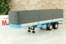 Scale car 1:43, Semitrailer MAZ-5205А, blue/gray