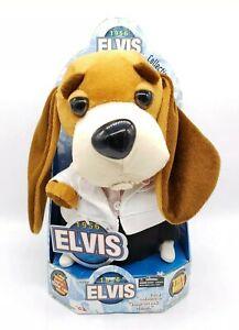 Elvis 1956 Hound Dog Collection Singing Plush Toy 2003 Heartbreak Hotel Gemmy