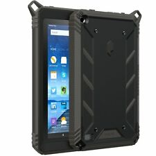 POETIC For Amazon Fire 7 5th Gen [Revolution] Shock Absorption Black Case Black