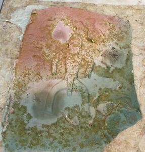 Lucite Paper Collage Ancient Sands Evans Ceramics Wood Sticks California LE #34