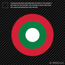 "4"" Maldivian Air Elements Roundel Sticker Die Cut Decal Maldives MDV MV"