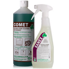 Carpet Upholstery Extraction Shampoo 1L & Stale Urine Pet Odour Remover 750ml