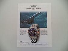 advertising Pubblicità 1997 BREITLING CROSSWIND