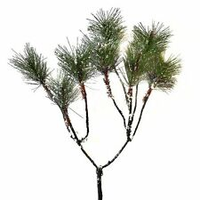 54cm Artificial Pine Spray With Snow - Winter Christmas Decorative Branch