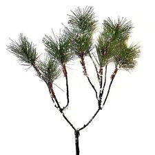 54cm Artificial Pine Spray With Snow - Winter Christmas Decorative Branch