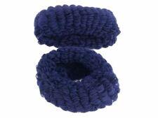 Large Donuts - Navy Hair Elastics Hair Bands