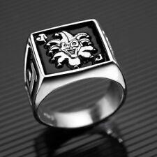 Solid Sterling Silver .925 Joker  Ring