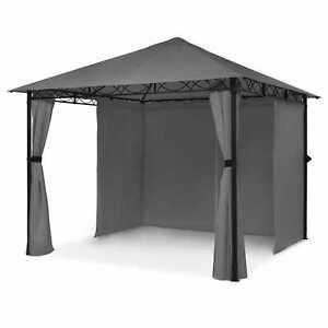 Gartenpavillon Partyzelt Terrassen Bierzelt Sonnenschutz Festzelt 3x3m grau