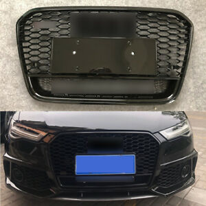 For Audi A6 S6 2016 17 18 RS6 Style Front Grill Honeycomb grille W/Camera Slot