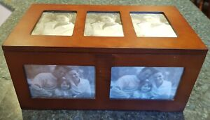 Photo Chest, Wooden Hinged Box, Stores 297 Photos