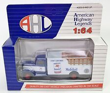 AHL AMERICAN HIGHWAY LEGENDS MOBILOIL DIE CAST MODELS PETER BUILT 260 1:64 NIB