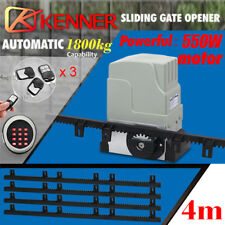 New Sliding Electric Gate Opener 1800KG Automatic Motor Remote Kit Heavy Duty 4m