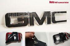 07-17 GMC Sierra Yukon FLAT Black Front Grill Emblem Overlay Kit 1500 Matte