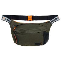Superdry NEW Men's Zac Large Bum Bag - Dark Green / Reflective BNWT