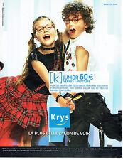 03fc753b7a Publicité Advertising 108 2005 Opticiens Krys lunettes enfants Junior