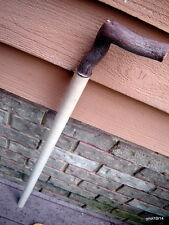 hefty hardwood cane/walking stick blank real Mt. Laurel handle~ready2use/finish