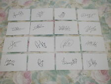 B Signed Lower Division Player/Club Football Cards