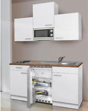 Miniküche Küchenzeile mit Elektrogeräte Singleküche 150 cm Küchenblock E Geräte