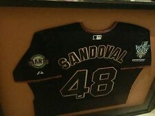 PABLO SANDOVAL Framed SIGNED San Francisco GIANTS 2010 WORLD Series JERSEY