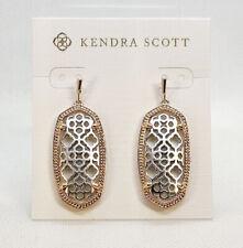 New Kendra Scott Elle Filigree Earrings in Rose Gold / Silver