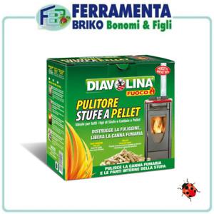 DIAVOLINA PELLET SPAZZACAMINO STUFE CALDAIE DISTRUGGE FULIGGINE CANNA FUMARIA