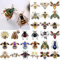 Fashion Crystal Pearl Bee Animal Brooch Pin Women Costume Jewellery Party Gifts