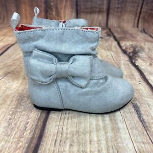 Old Navy Baby Boots With Bow Toddler Size 6 Boots - Gray - NEW