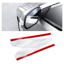 2x Clear Car Rear View Mirror Rain Snow Board Guard Sun Visor Stick Accessories
