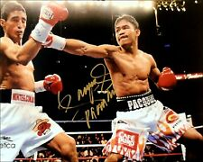 MANNY PACQUIAO Signed 10x8 'MORALES' Team Pac Cert