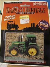 Ertl Harvest Heritage Trading Cards includes two Super Cards 4455 MFWD Tractor