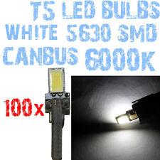 N° 100 Bulbo LED T5 Branco 6000K SMD 5630 Faróis Angel Eyes DEPO FK 12v 1A7A 1A7