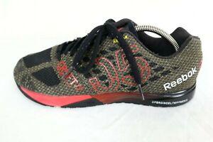 Reebok Mens Crossfit Nano 5.0 Red Black Training Gym Kevlar Shoes US 9.5 AQ9343