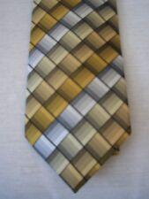 VAN HEUSEN Gold / Grey Silk Tie NEW
