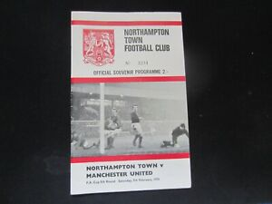 1969-70 FA CUP 5TH ROUND NORTHAMPTON TOWN v MANCHESTER UNITED