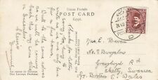 Egypt 1937 Postcard sent to England- De Lesseps Statue