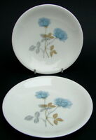 TWO 1970's Wedgwood Ice Rose R4306 2 x Small Side or Bread Size Plates 15cm VGC