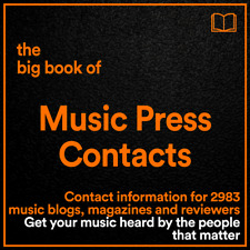 The BIG BOOK of Music Press Contacts // 2983 Music Blogs & Magazines Details