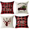"18x18"" Christmas Flax Pillow Case Sofa Car Throw Cushion Covers Home Decor"