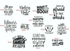 Kitchen quotes decals stickers 12 great designs wall tiles KQ3