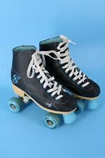 Candi Girl Womens Size 8 Roller Derby Sabina Roller Skates Black Turquoise Rare