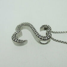 Sterling Silver Jane Seymour Diamond Open Heart Necklace