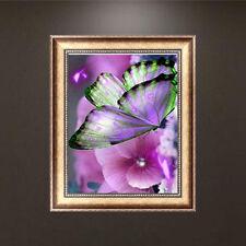 Butterfly Flowers 5D Diamond Embroidery Diamond DIY Painting Cross Stitch Crafts