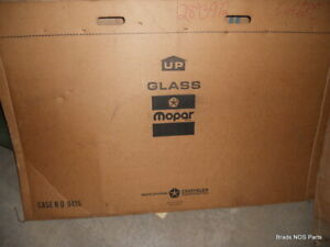 NOS MoPar 1969 Plymouth Fury Dodge Polara 4-dr HTP RR DOOR GLASS  2893912 D4245